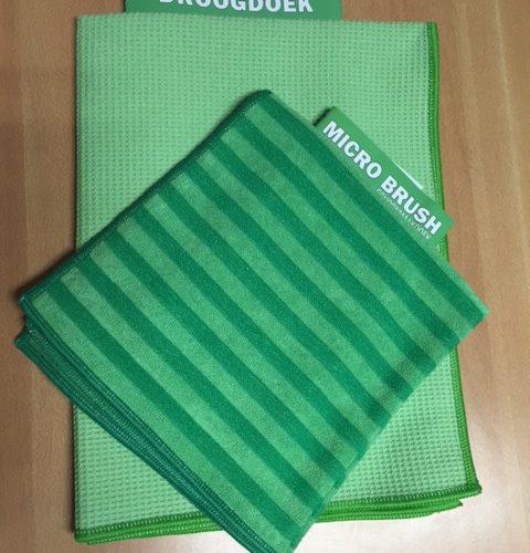 Raamset: Micro Brush Schoonmaakdoek En 2 Droogdoeken