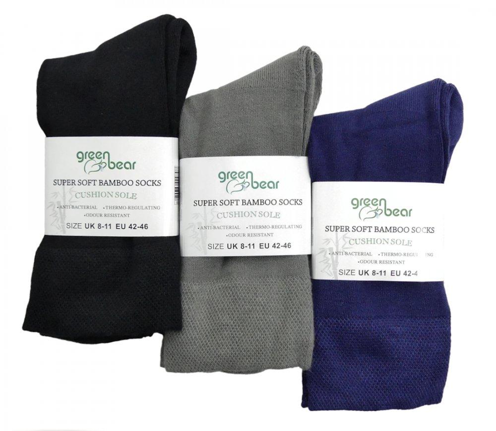 69661027ed9 Bamboe sokken 3 paar Diverse kleuren en maten - Groenebeer