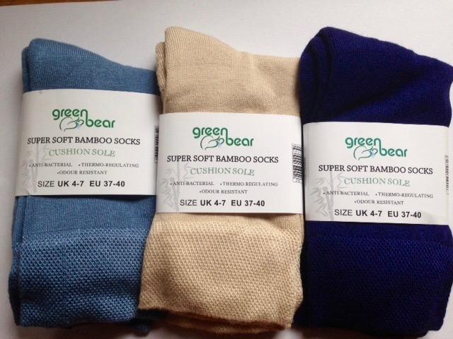 Bamboe Sokken 3 Paar Blauw, Beige, Donkerblauw