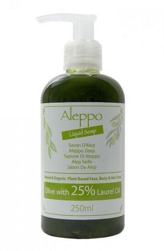 Natuurlijke Aleppo Vloeibare Zeep – Olijf Met 25% Laurier Olie